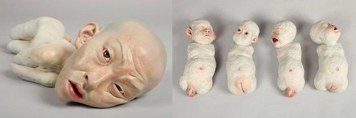Жутковатые скульптуры и инсталляции от Choi Xooang