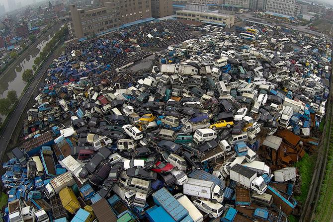 Автосвалки в Китае