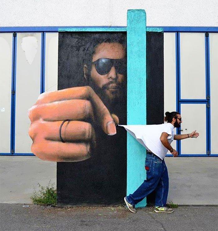 Интерактивный стрит-арт от Каиффа Козимо