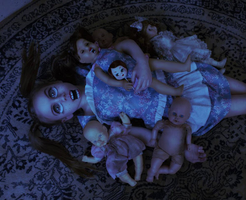 Фотографии детей в образе зомби