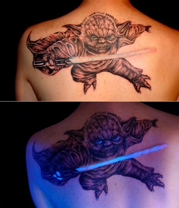 Неоновые или ультрафиолетовые татуировки