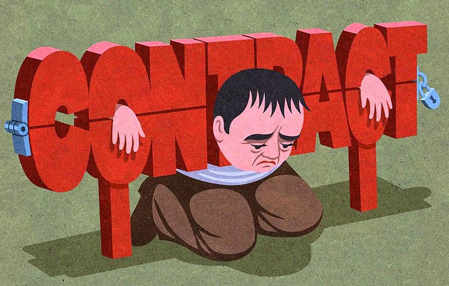 Сатирические иллюстрации от John Holcroft