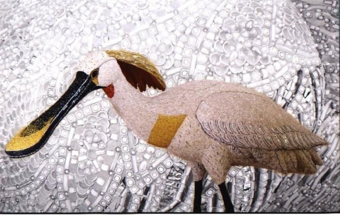 Мозаичные скульптуры птиц от Душаны Бравуры
