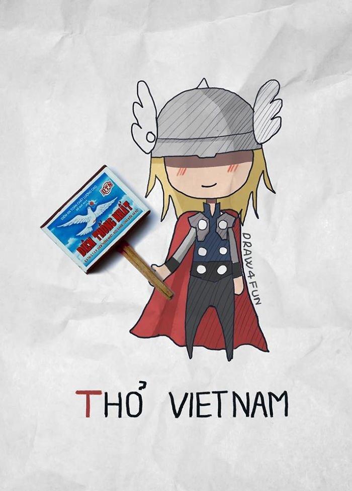 Супергерои от вьетнамского художника Нгуена Куанг Хая