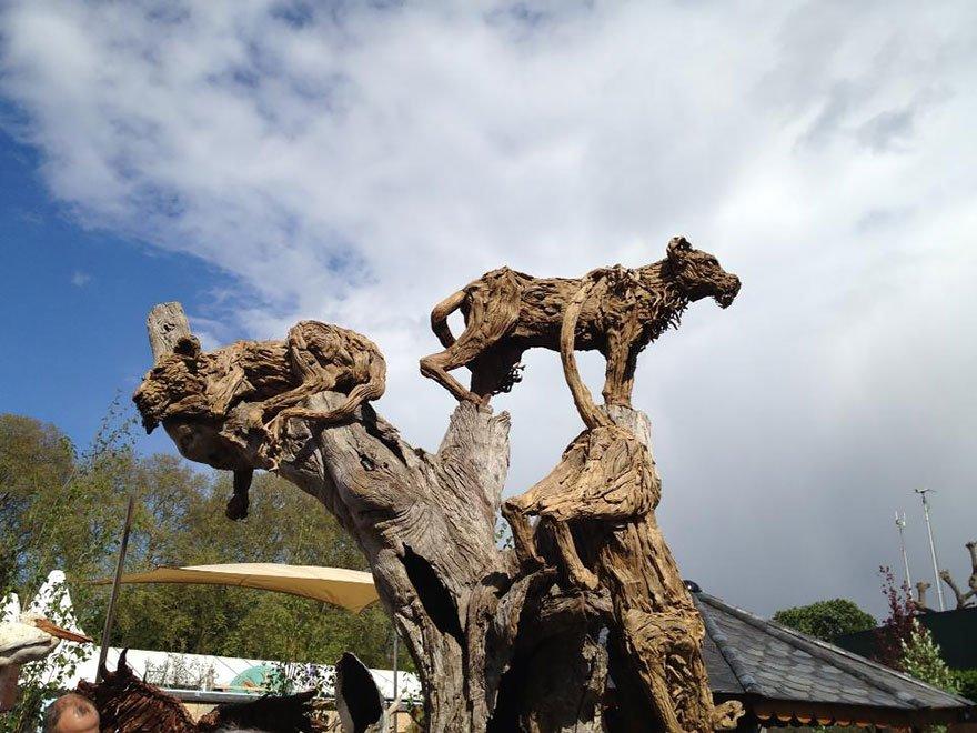 Удивительные скульптуры из коряг от Джеймса Доран-Вебба