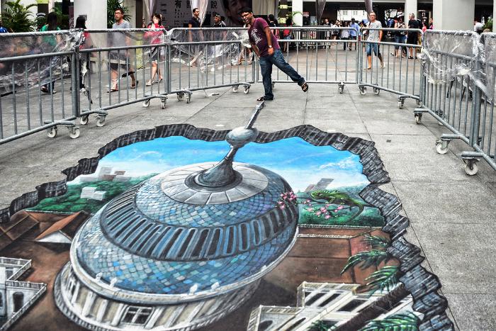 10 впечатляющих 3D рисунков на асфальте