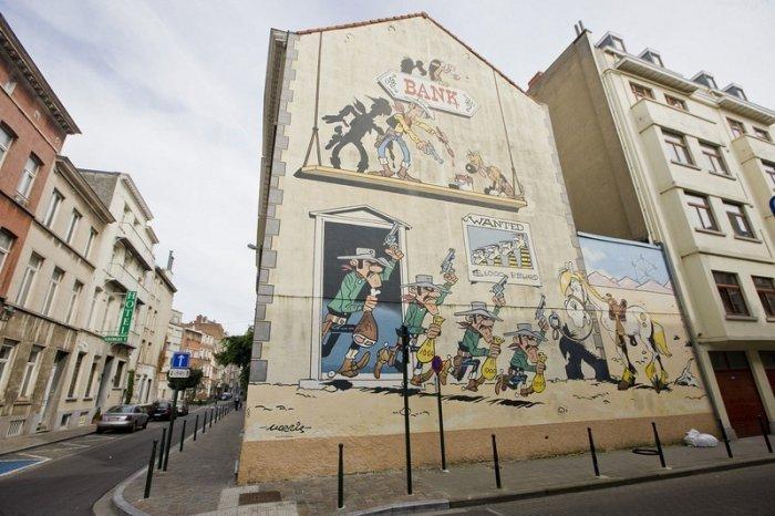 Комиксы на улицах Бельгии