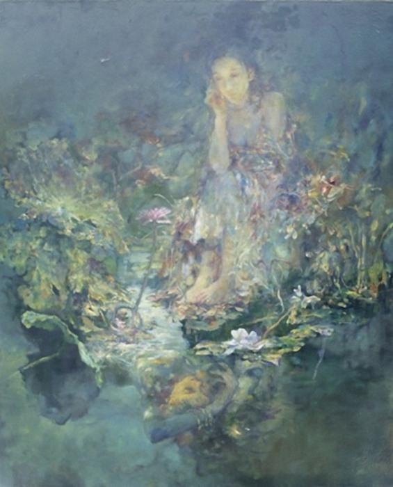 Мягкие и невесомые картины маслом от китайского художника Ху Джун Ди