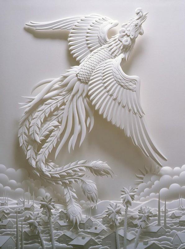 Сказочные скульптуры из бумаги от Джефа Нишинаки