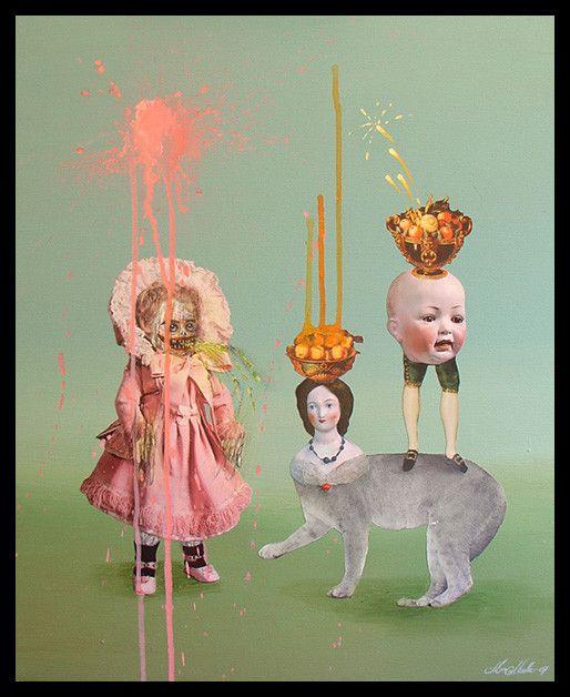 Жуткие картинки от художницы, которая страдает шизофренией