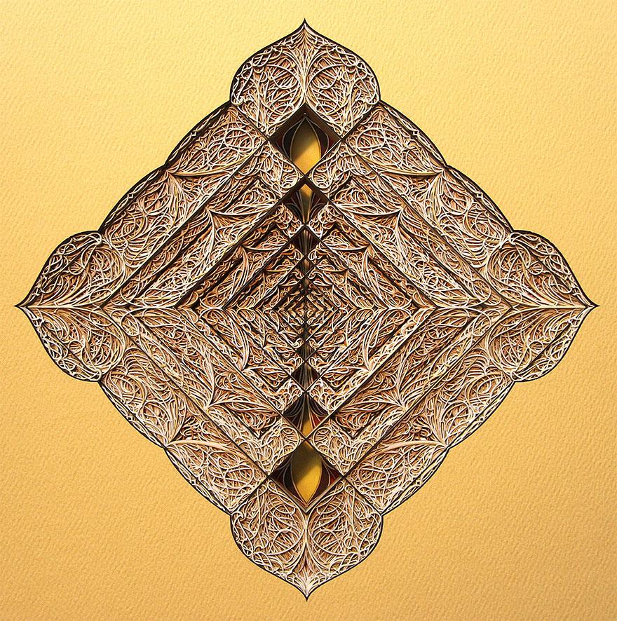 Необычные композиции, вырезанные лазером из бумаги