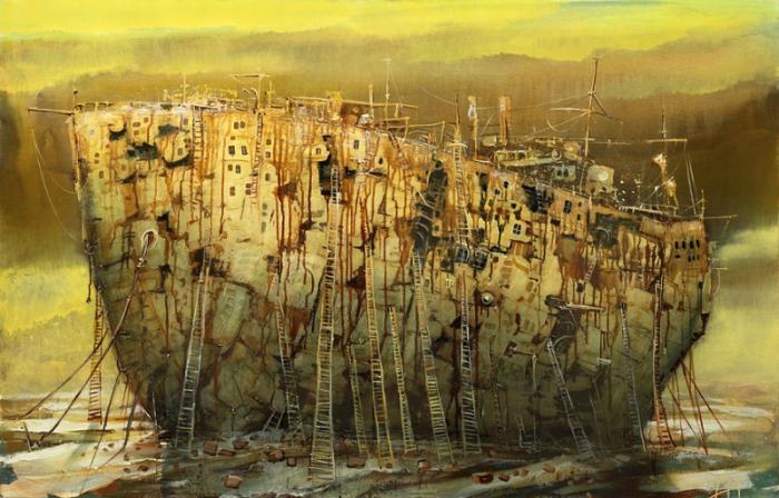 Сказочные корабли и воздушные судна от Модестаса Малинаускаса