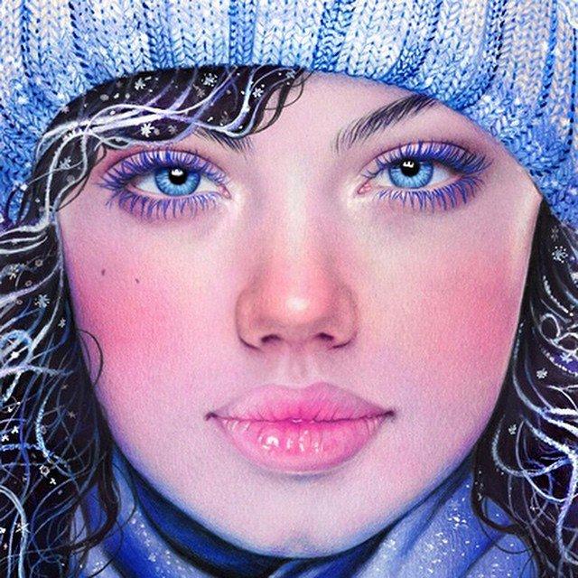 Гиперреалистичные рисунки цветными карандашами от Морган Дэвидсон