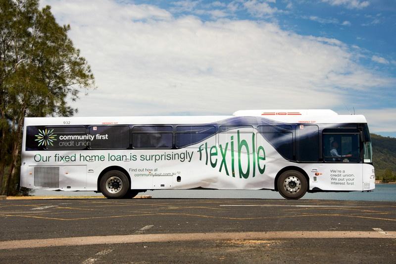 Прикольная реклама на автобусах
