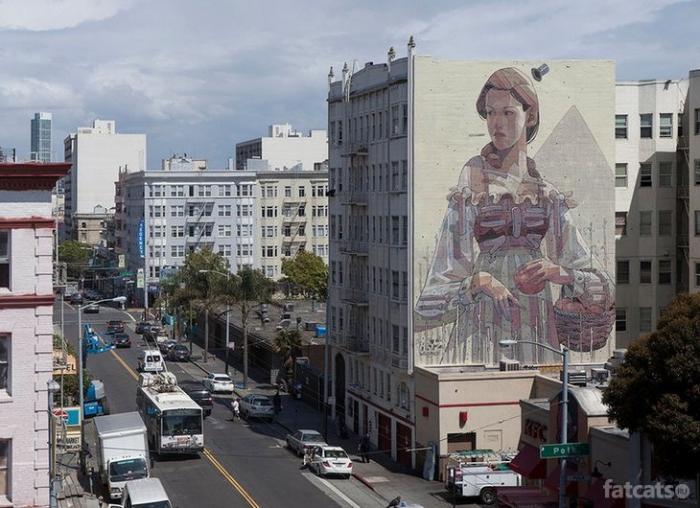 Работы уличного художника Aryz