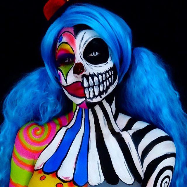 Пугающий разноцветный боди-арт от Кори Виллет