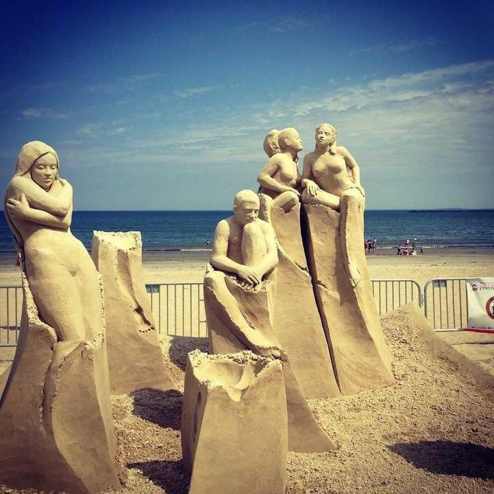 Песчаные скульптуры с фестиваля Revere Beach International Sand Sculpting Festival 2015