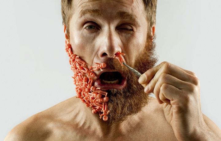 Половина бороды и селфи