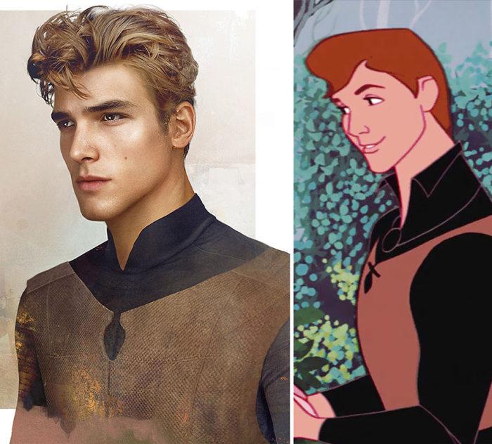 Реалистичные принцы из диснеевских мультфильмов
