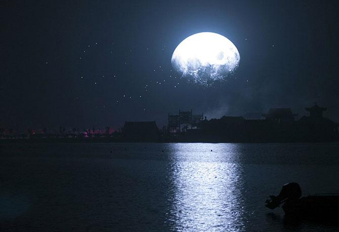 Голубая Луна в разных странах