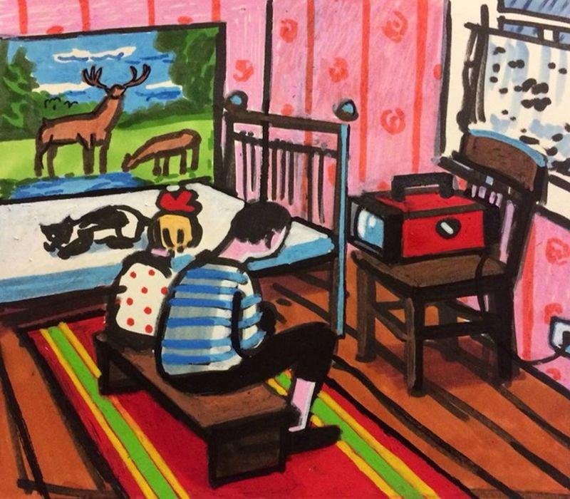 Картины о детстве в СССР от израильской художницы Зои Черкасской