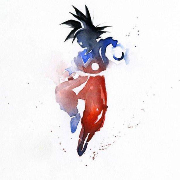 Популярные персонажи на акварельных рисунках Blule