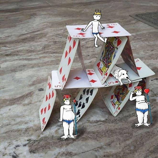 Забавные иллюстрации на присланных фотографиях от Суража Сирохи