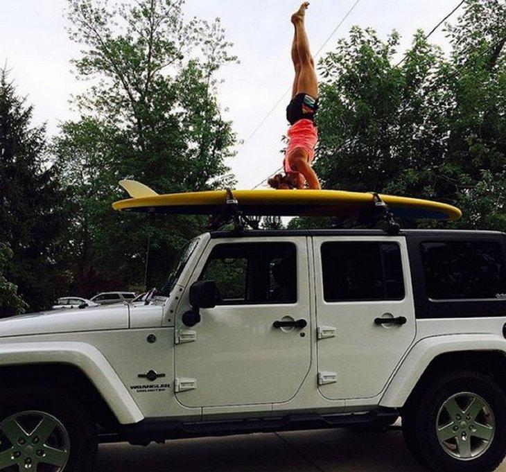 Джип-йога в Instagram