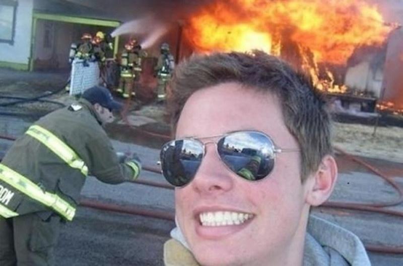 Классные фото на фоне пожаров