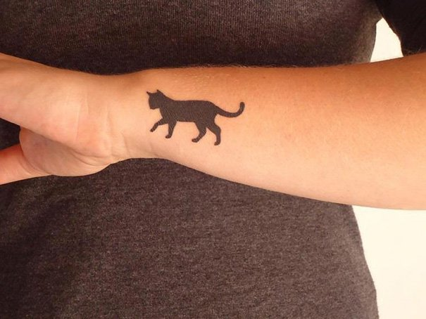 Минималистичные татуировки для любителей кошек