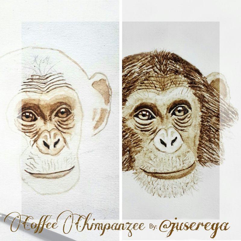Необычные рисунки, созданные с помощью кофе