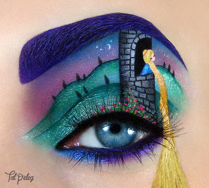 Яркий макияж глаз от Tal Peleg