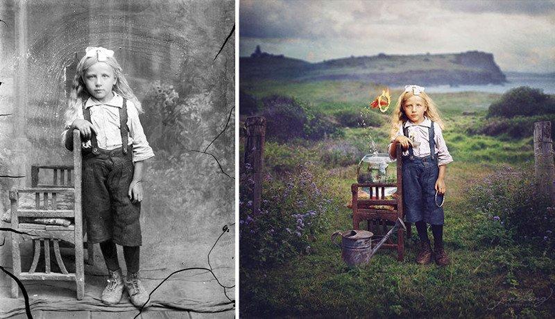 Отретушированные винтажные фото, которые делают прошлое более волшебным
