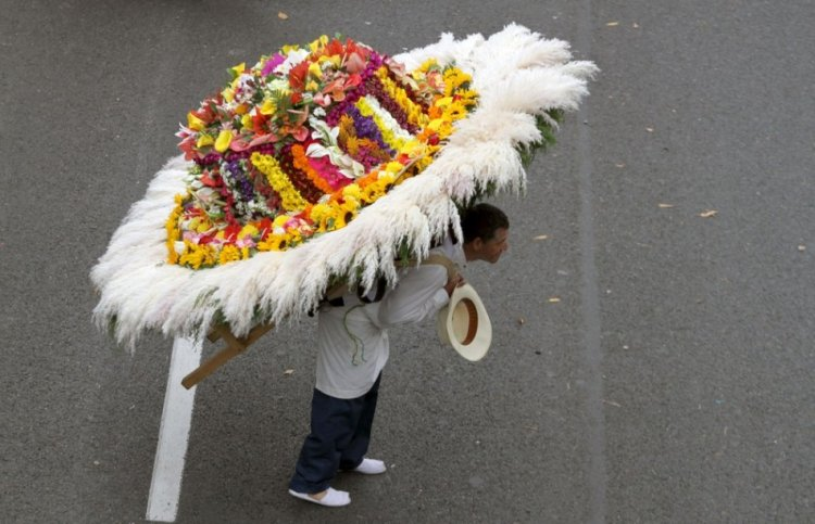 Парад цветов в Колумбии