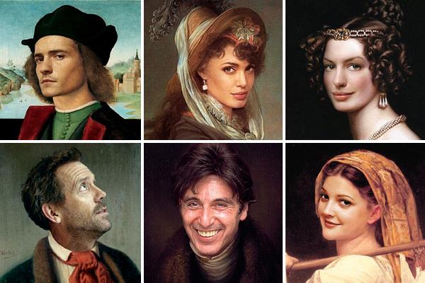 Знаменитости в стиле ренессанс