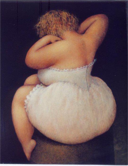 Мир очаровательных толстушек на картинах Жанне Лориоз