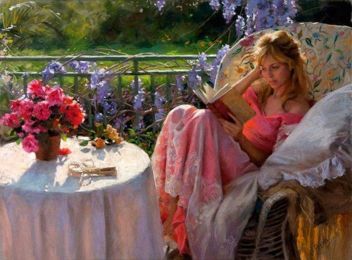 Женская красота на картинах испанского художника Висенте Ромеро Редондо