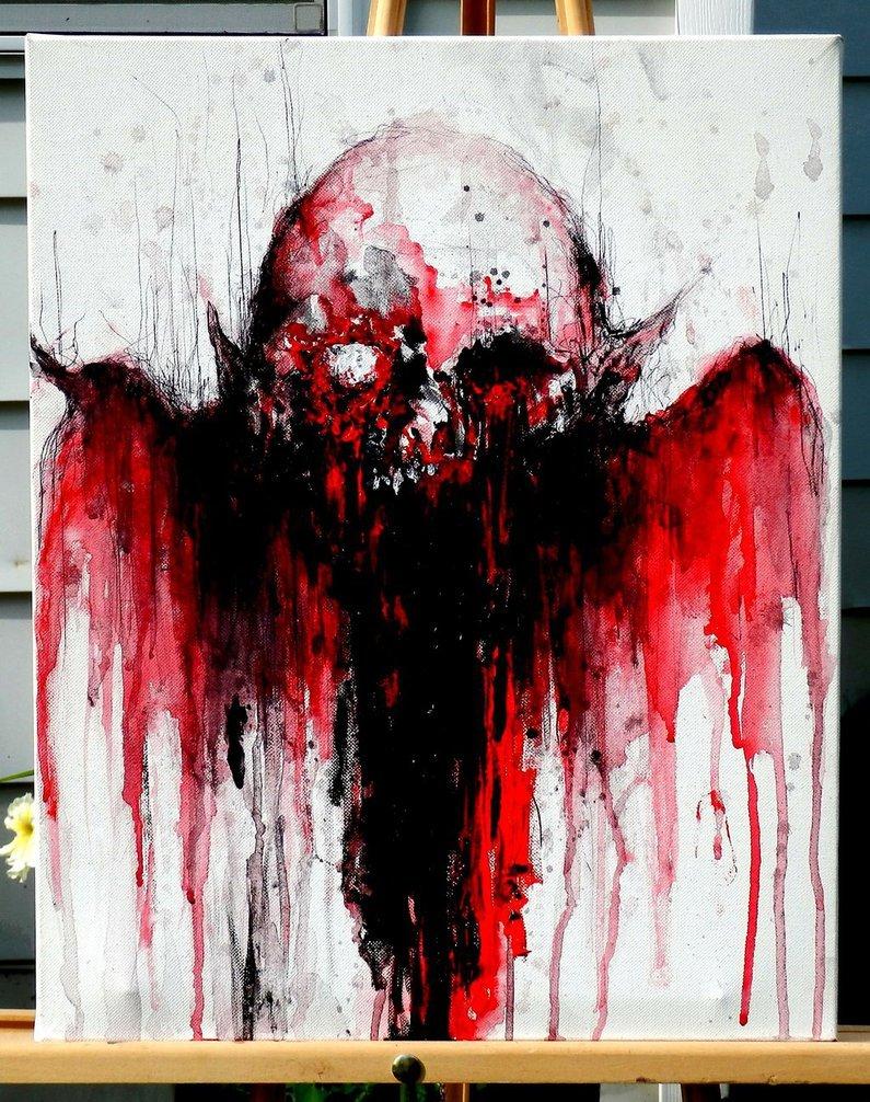 Жуткие картины кровью от Maxime Taccardi