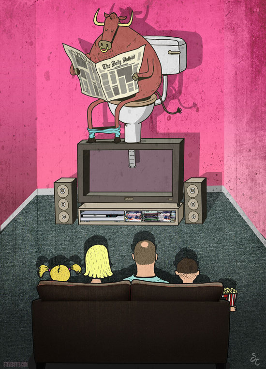 Современный мир в иллюстрациях Стивена Каттса