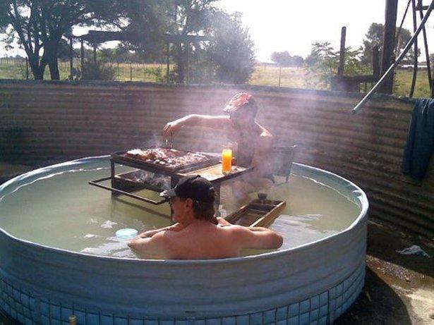 Самодельные джакузи и бассейны для жаркого летнего дня