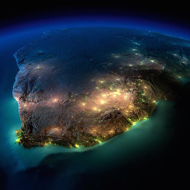Ночные фотографии Земли из космоса