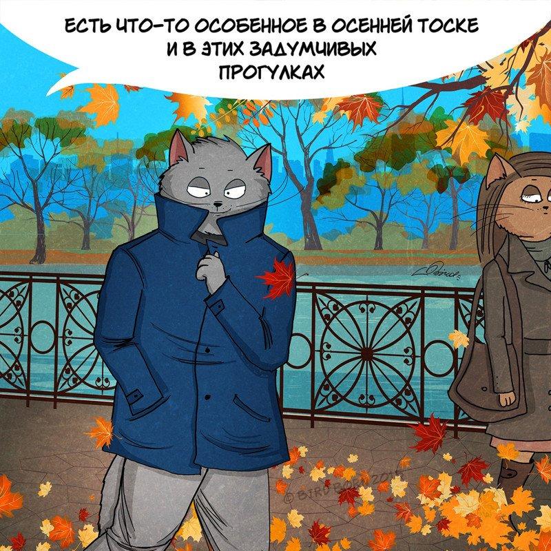 Прелести осенней поры и коты