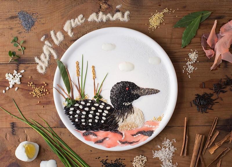 Картины из еды от Анны Кевилл Джойс