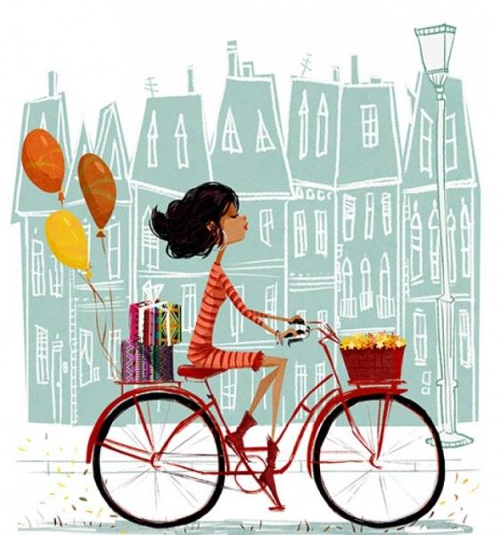 Счастье и моменты радости на иллюстрациях Эды Кабан