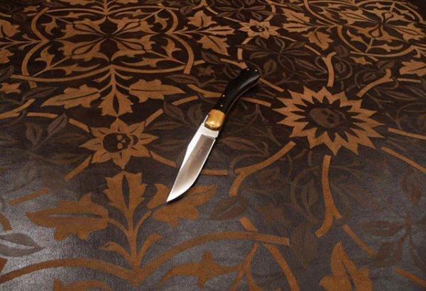 Картины ножом по коже от Mark Evans