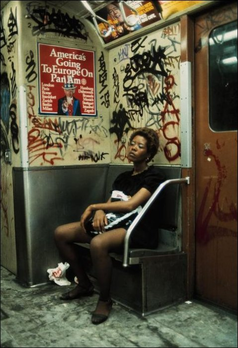 Центр и окраины Нью-Йорка в 1983 году