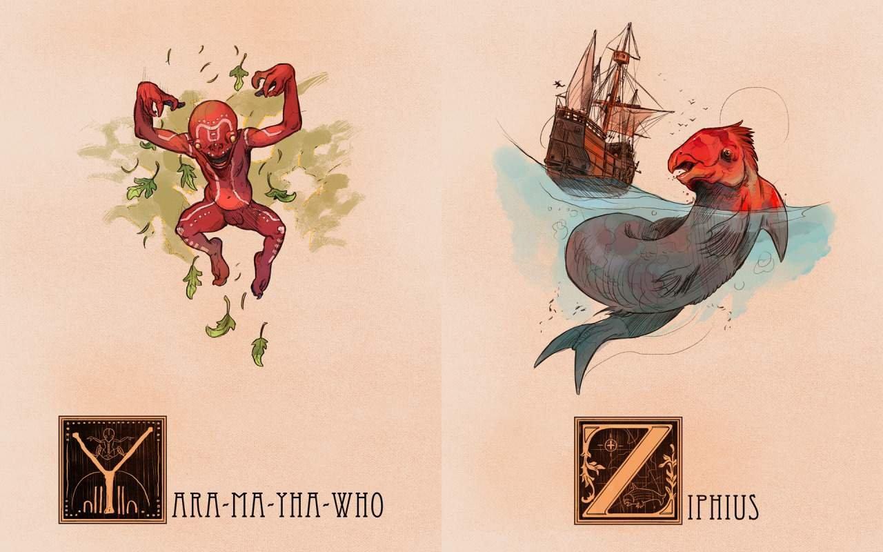 Мифологический алфавит - Bestiary Alphabetum