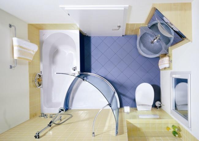 Полезные идеи для маленькой ванной комнаты
