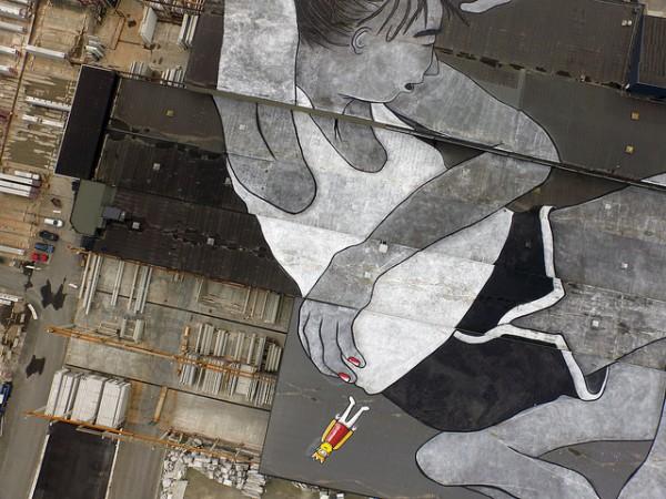 Самая большая уличная картина мира в Норвегии