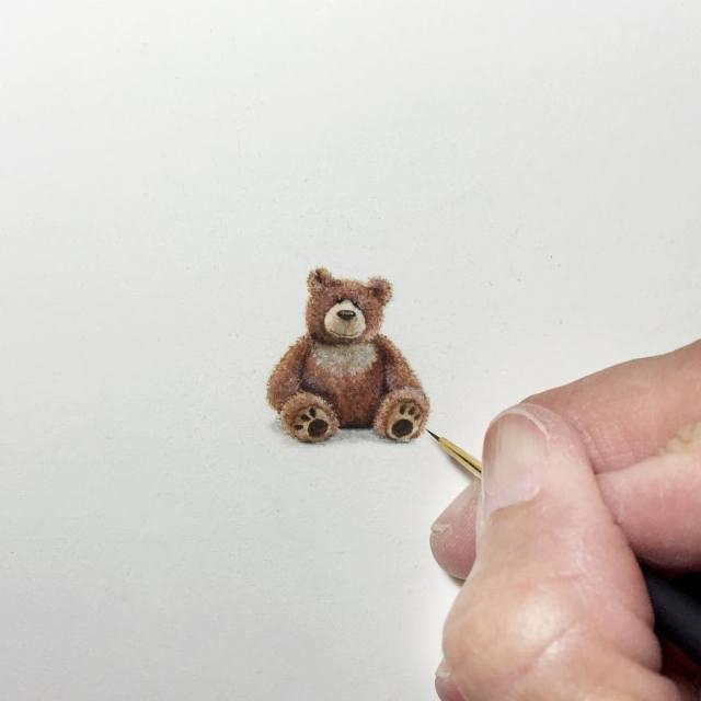 Удивительные миниатюрные рисунки от Карен Лайбкэп